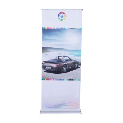 "31.5"" x 78.8"" Double Side Trapezoidal Base Roll Up Stand Banner (Graphic Included)"