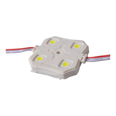 SMD 5050 Waterproof LED Module (4 LEDs ,White light,L37 X W37 X H5.8 mm)