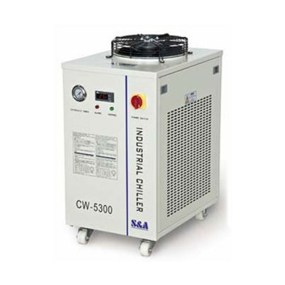 S&A CW-5300AH Industrial Water Chiller (AC 1P 220V 50Hz) for a Single 150W CO2 Glass Laser Tube Cooling, 0.82HP
