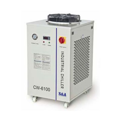 Ving CW-6100BI Industrial High Precision Water Chiller for 2 x 200W or 1 x 400W CO2 Glass Laser Tube Cooling, 1.72HP, AC 1P 220V, 60Hz