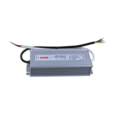 100W AC100V-240V to DC 24V 4.5A Waterproof Metal Shell LED Power Supply Transformer Driver(for LED Module/LED Strip/LED Bar)