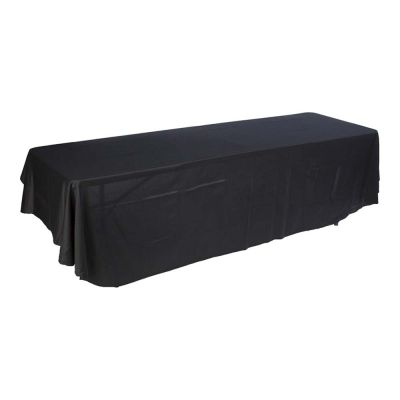 8ft (3) Full Length Sides Rounded Corner Dye-sublimation Table Throws (Multicolor optional)