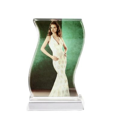 Sublimation Coating Blank Crystal Ripple Trophy