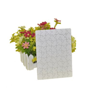 "11"" x 7.25"" White Rectangle Blank Sublimation Jigsaw Puzzle Child Toy Heat Transfer"