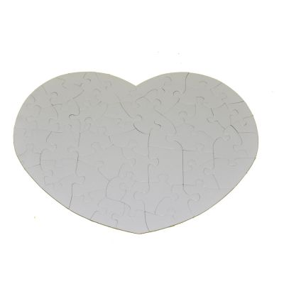 White Heart-Shape Sublimation Blank Jigsaw Puzzle Child Toy Heat Transfer
