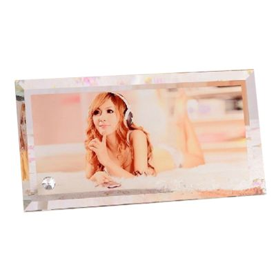 "11.8"" x 6.3"" Rectangle Sublimation Blank Glass Photo Frame 0.39"" Thick"