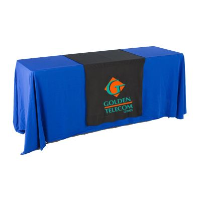 "30""W Table Runner with 2-Color Printing on Black"