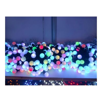 AC220V Φ24mm Color Changing 100LED RGB Ball 32 Feet  String for Christmas XMAS Party
