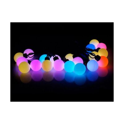 AC220V Φ40mm Color Changing 20LED Ball 16 Feet String for Christmas XMAS Party