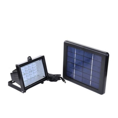 30-LED Solar Powered Dusk-to-Dawn Sensor Waterproof Outdoor Security Flood Light