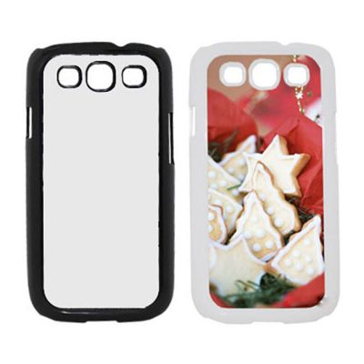 3D Sublimation Samsung S3 Blank Cell Phone Case Cover with Metal Sheet for Heat Transfer Printing