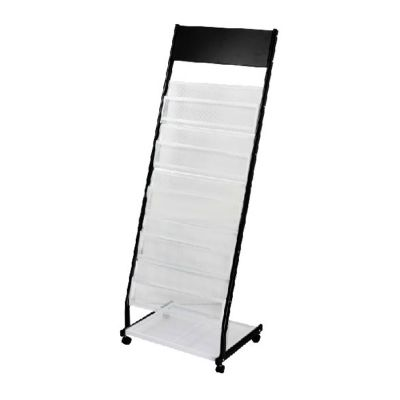 A Style Iron Literature Display Rack With 5 Pockets