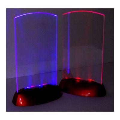 acrylic flashing led light table menu restaurant card display holder stand led. Black Bedroom Furniture Sets. Home Design Ideas