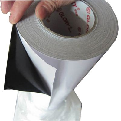 "50"" (1.27m) Glossy Removable Self Adhesive Vinyl with Black Adhesive Glue 140G"
