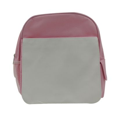 Pink Blank Sublimation Backpack with Heat Transfer Flap for Kids
