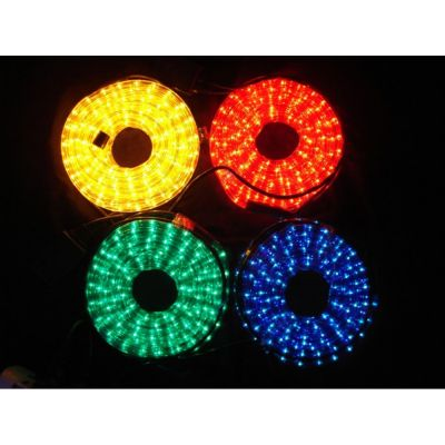AC110V/220V High Voltage Rainbow Tube LED Rope Lights with Round Wire 36 LEDs/M, 100m(328ft)/roll/pack