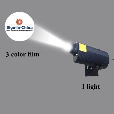 80W LED Rotating Gobo Advertising Logo Projector Light (1 Light + 1 Three Colors Film)
