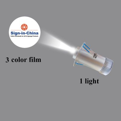 Embedded Φ7CM 5W LED Advertising Logo Projector Light (1 Light + 1 Three Colors Film) Room Number Light