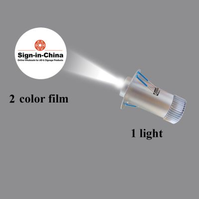 Embedded Φ7CM 5W LED Advertising Logo Projector Light (1 Light + 1 Two Colors Film) Room Number Light