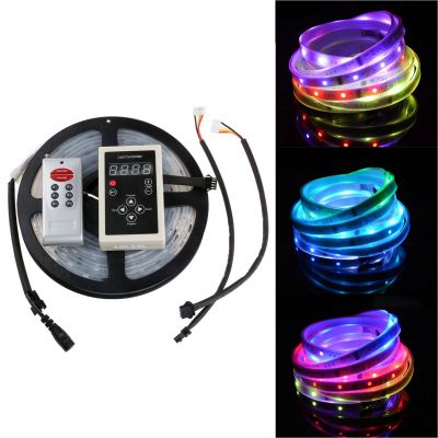 16.4FT 5050 150 LED RGB Magic Dream Color 6803IC Strip Light IP67 + 8 Key Controller
