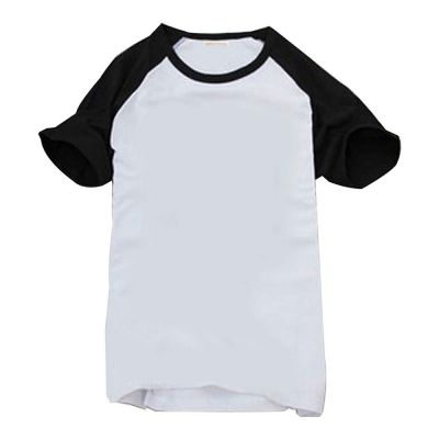 Sublimation Blank Polyester T-Shirt Raglan with Sleeve Colorful for Children