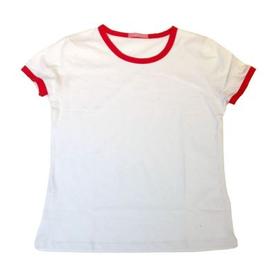 Sublimation Blank Combed Cotton T-Shirt with Rim Colorful for Children