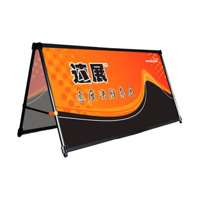 One Unit Double Sided A Shape Advertising Banner Stand with Graphic