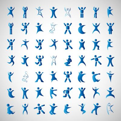 Body Workout Exercise Posture Body Movements Signs Set Vector Illustrations (Free Download Illustrations)