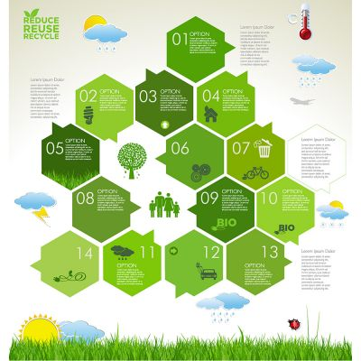 Hives Nest Vector diagram template with various descriptive bubbles (Free Download Illustrations)