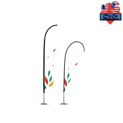 US Stock-8FT Pole With Cross Base Flag Banner Stand(Only Pole)