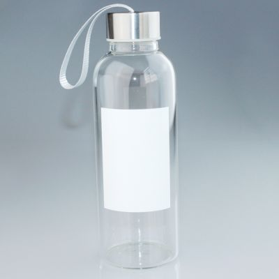 420ml Glass Photo Bottle with White Patch for Sublimation Printing