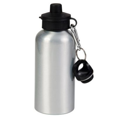 400ml Blank Silver Sport Bottle for Sublimation Printing
