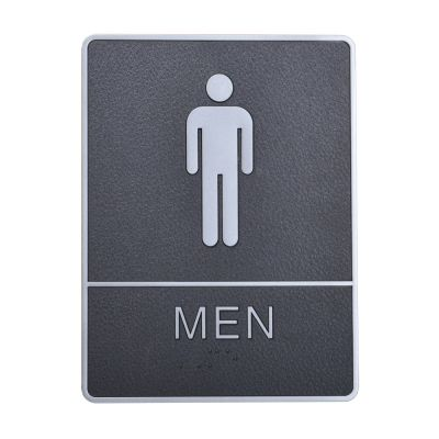 Male, Toilet, Restroom Signs With Braille, ABS New Material