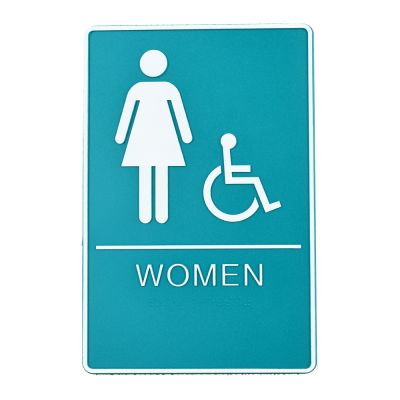 Female / Disabled, Toilet, Restroom Signs With Braille, ABS New Material