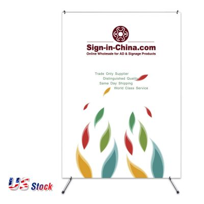 "Clearance Sale! US Stock-47.24""x 78.74""Economy Aluminum Foot X Banner Stand"