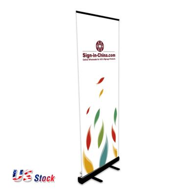 Clearance Sale! US Stock-Black Good Quality Sliver Standard Roll Up Banner Stand(Stand Only)