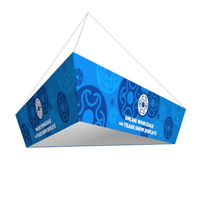 10ft Ceiling Banner Display Trade Show Tapered Triangle  Hanging Sign (Single Sided Graphic)