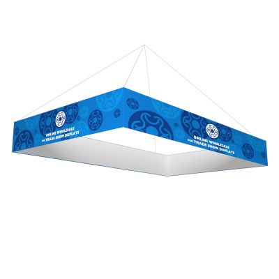 10ft x 5ft Ceiling Banner Display Trade Show Rectangle Hanging Sign (Double Sided Graphic)