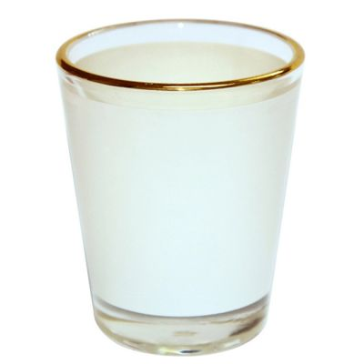 1.5 OZ Shot Wine Glass Cup with Golden Rim for Subliamtion Printing