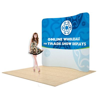7.5ft Curved Back Wall Display with Custom Fabric Graphic