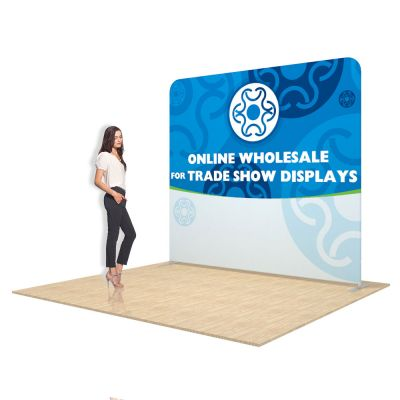 8ft Straight Back Wall Display with Custom Fabric Graphic