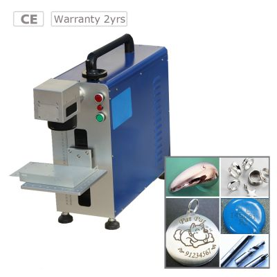 High Speed 10W Portable Fiber Laser Marking Machine for Metal and Non-metal Material