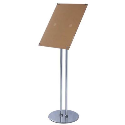 A40 Size Pedestal Sign Stand Adjustable Height Acrylic Display Frame Best Adjustable Acrylic Display Stands