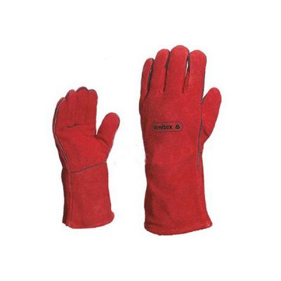 "14"" Deltaplus Cowhide Welding Gloves For Protect Welder Hands, 1 Pair"