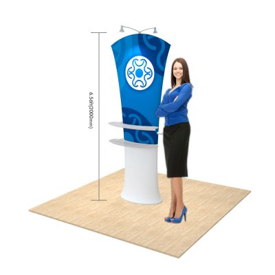Allure Fabric Tension Banner System-Arc angle (Graphics Included)