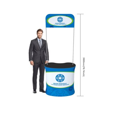 Curved Fabric Tension Promotion Counter