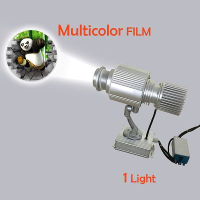 Outdoor IP65 Waterproof 20W LED Rotating Gobo Advertising Logo Projector Light (with Custom Multicolor Glass)