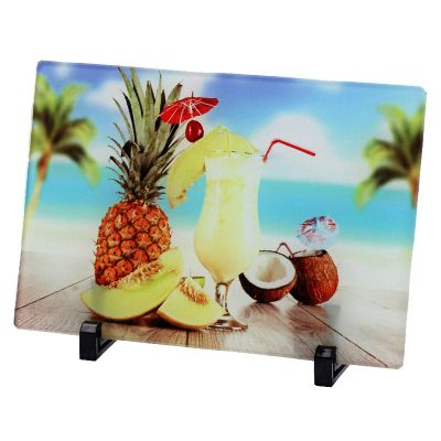 "10.6"" x 7.0"" Glossy Square Sublimation Blank Glass Photo Frame"