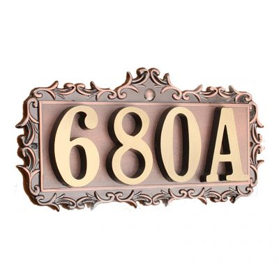 Custom House Office Apartment Number Sign Address Plaque Metal Copper (4  Letters Or Numbers)