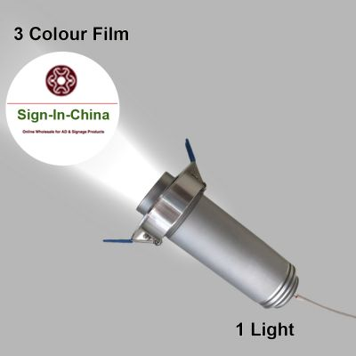 Embedded Φ5CM 5W LED Advertising Logo Projector Light (1 Light + 1 Three Colors Film) Room Number Light